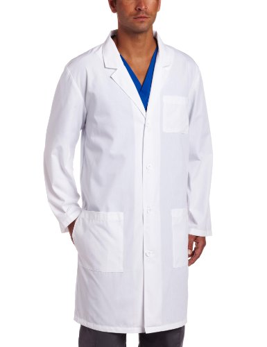 Dickies Everyday Scrubs Unisex 40 Inch Lab Coat,White,Small