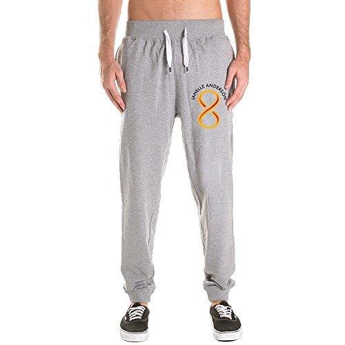 Ncjskdn Man's Innov8tive Nutrition Jacket 100% Cotton Novelty Close Up Jogging Harem Sweatpants Medium Ash