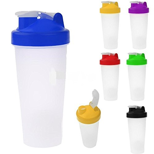 1Pc Sport Protein Shaker Bottle Blender Random color 600ml