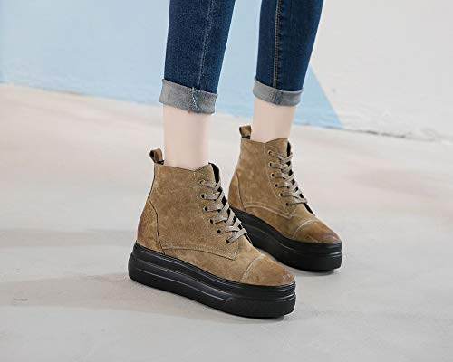 Women'S Leisure Muffin Nine Autumn Leather Shoes Sports Thirty Winter And Khaki Bottom Shoes KPHY TBqpwAdp