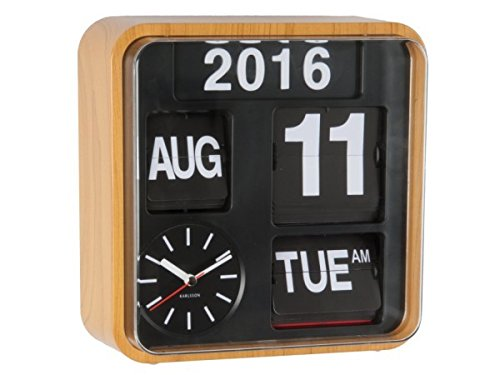 Karlsson Wall Clock - Mini Flip - Square Wood Clock