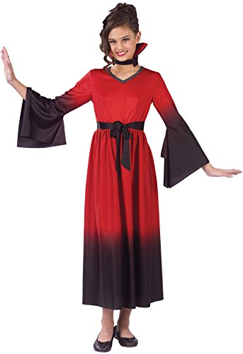 Girls Blood Vampiress Kids Child Fancy Dress