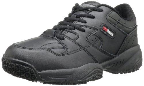 (Skidbuster 5055 Women's Leather Comfort Slip Resistant Athletic Shoe,Black,8.5 W US)