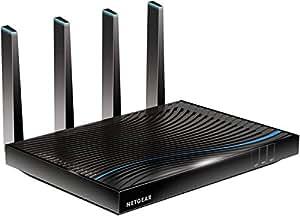 Netgear Nighthawk R8500-100PES - Router Gaming X8 con WiFi AC5300 (5300 Mbit/s, triple banda, Dynamic QoS, agregación de puertos, 2 puertos USB, 7 puertos gigabit), color negro