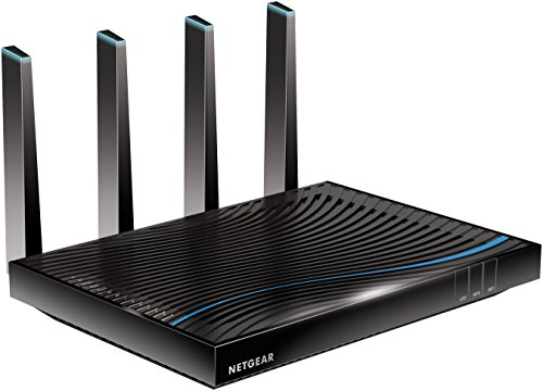 Netgear R8500-100PES Nighthawk X8 Router Wireless AC5300 Mbps, Tri-Band, Processore Dual Core 1.4 GHz, 6 Porte Gigabit (2 con Aggregazione), 1 Porta WAN, Antenne Esterne, Streaming Simultanei, Nero