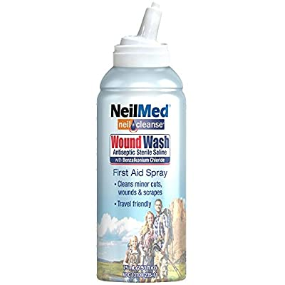 NeilMed Neilcleanse Wound Wash Antiseptic Sterile Saline