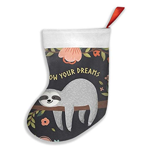 Fruit Place Card Holders - MCLHQ Follow Your Dreams Sloth My Spirit Animal Christmas Stockings Gift Card Bags Holders,Bulk Personalized Holiday Treats for Neighbors Coworkers Kids Cats Dogs,Xmas Tree Decorations Set