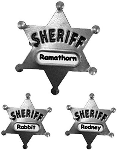 Large Metal Sheriff Badge (Metal Pin Badge)