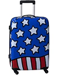 Ed Heck Luggage Stars N Stripes 25 Inch Hardside Spinner, Red/White/Blue, One Size