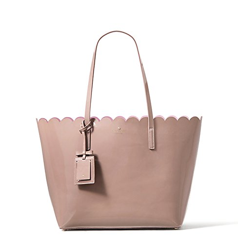 Kate Spade Lily Avenue Patent Carrigan (Porcini/Rose Taupe) by Kate Spade