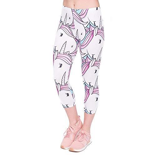 Allenamento Pantaloni Mid Donne Da Moda Fitness Stampa Pants Lgc45797 Capri Casuale Di Donna Yoga Calf Estate 3 Leggings ZfgqZrw