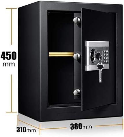 Caja Fuerte Empotrable Caja de seguridad con llave y combinación, caja fuerte portátil a prueba de fuego negra a prueba de fuego, oficina de viajes del hotel, altura de 45 cm: Amazon.es: