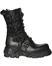 NEWROCK Men's New Rock M.391-S18 Black Metallic Punk Reactor Goth Biker Unisex Negro Boots