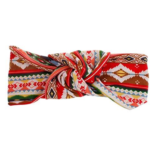 iNoDoZ Women's Fashion Colorful Stripes Headband Boho Print Cross Criss Knot Tie Headwrap Hairband Hoop Accessories]()