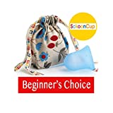 SckoonCup BEGINNER CHOICE - Made in the USA - FDA Approved - Heavy Flow - Organic Cotton Pouch - Menstrual Cup - Balance Large