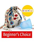 SckoonCup Beginner Choice Made in The USA - FDA Approved - Regular Flow - Organic Cotton Pouch - Menstrual Cup - Balance Small