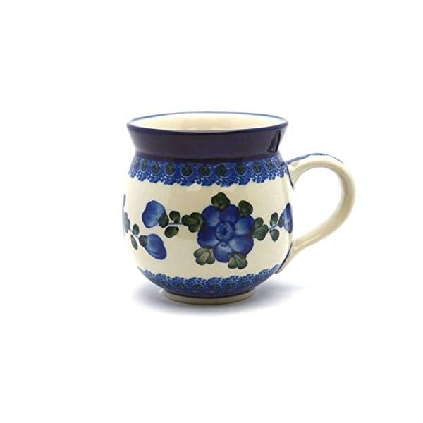 Polish Pottery Mug – 12 Oz. Bubble – Blue Poppy