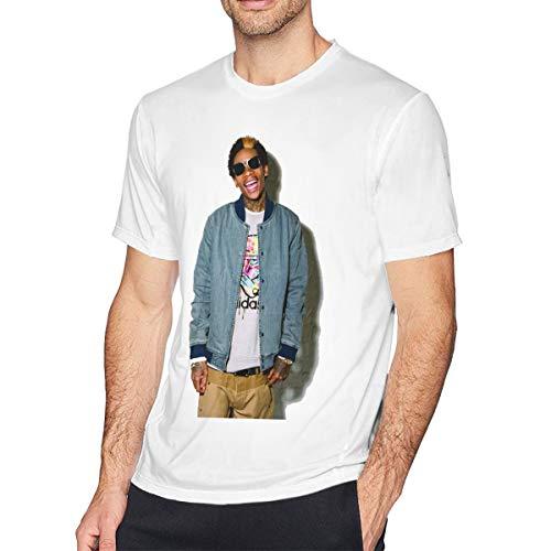 TERRY GARRARD Wiz Khalifa Adorable Music Band Men's Short Sleeve T-Shirt White 4XL