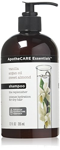 ApotheCARE Essentials The Replenisher Moisturizing Shampoo, Vanilla, Argan Oil, Sweet Almond, 12 oz