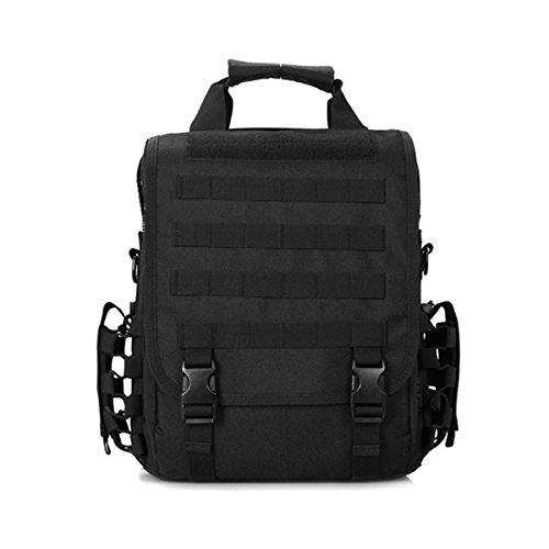 LarKoo 3 in 1 Sling Backpack Handbag Messenger Inclined shoulder bag - Outdoor Multifunction Military Tactical Waterproof Molle Briefcase Purse Molle Bag Gear Laptop Case Bag in 14