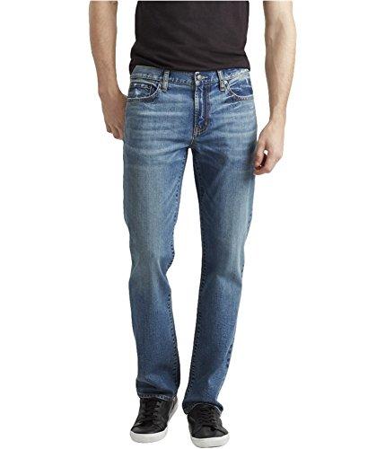 Aeropostale Mens Reflex Slim Straight Leg Jeans, Blue, 27W x 28L