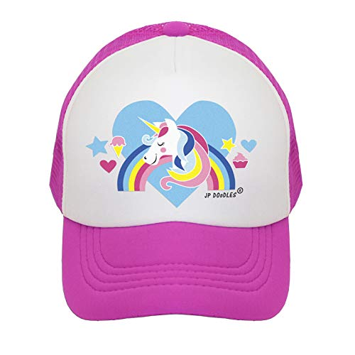 3b8dc87f033 JP DOoDLES Unicorn on Kids Trucker Hat. The Kids Baseball Cap is Available  in Baby