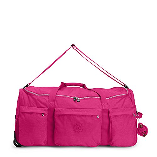 Kipling Discover Large Wheeled Luggage Duffle, Very Berry