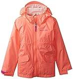 Columbia Big Girls' Girls Trail Trooper Rain Jacket, Coral Glow, Large