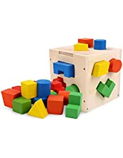 ألعاب خشبية تعليمية للأطفال مطابقة أشكال - متعدد الألوان