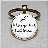 Gilmore Girls 'Where you lead...' Pendant Keychain