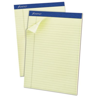 Pastel Pads, Legal Rule, Letter, Green Tint, Micro Perfed, 50-Sheets, Dozen, Sold as 1 Dozen Ampad Evidence Pastel Perforated Pad