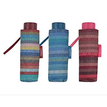 BISETTI Paraguas Plegable Listas (Azul, Rojo o Multi)