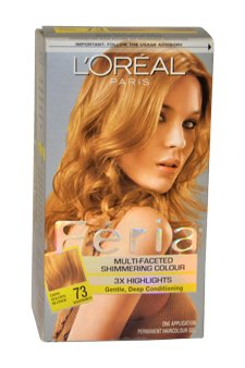 Feria Multi-Faceted Shimmering Color3X Highlights#73 Golden Sunset 1 Application Hair Color Women