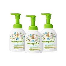 Babyganics Foaming Hand Soap, Fragrance Free, 8.45-Ounce Pump Bottle (Pack of 3)