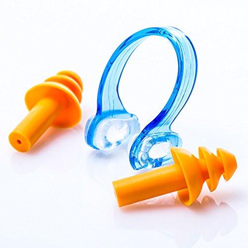 Natation nez clip bouchons d'oreilles set Silicone nez plug imperméable à l'eau anti-dérapant Natation équipement Earplug nez ensemble d'agrafe