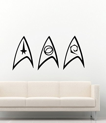 Movie Film Wall Decals Star Trek Division Insignia Logo Stickers Vinyl Murals Decors MK1939 & Amazon.com: Movie Film Wall Decals Star Trek Division Insignia Logo ...