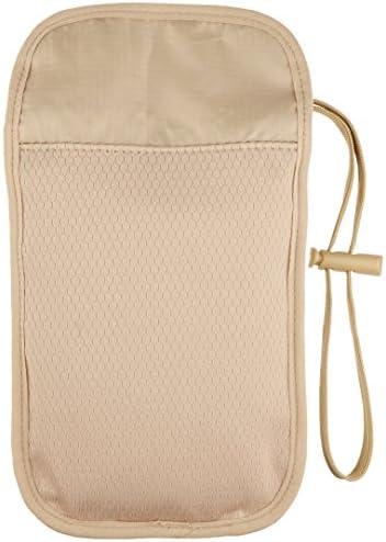 Amazon Basics RFID Travel Neck Passport Holder Wallet - Khaki