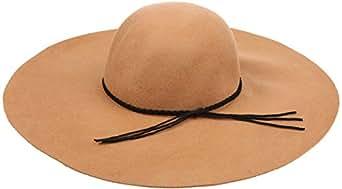 Sakkas 2041SS Greta Vintage Style Wool Floppy Hat - Beige - One Size
