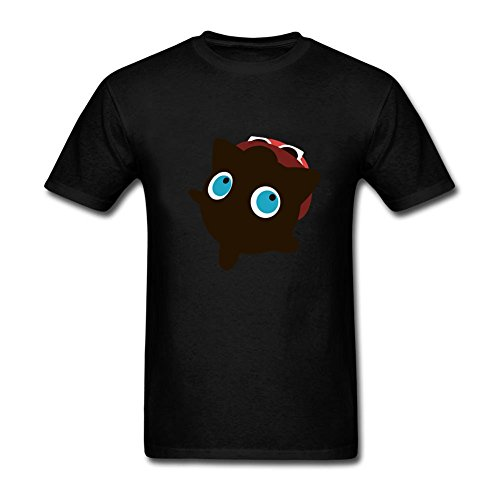 Babadook Costumes (Leisure Men jigglypuff serena sunset shores Round Neck Short Sleeve Tee Shirt Black S Costume)