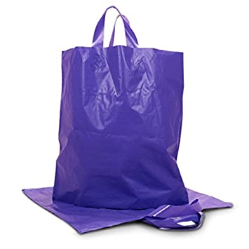 Amazon.com: Color morado mate plástico HDPE bolsas – bolsas ...