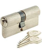 Yale YC500+ sluitcilinder, 30 x 40 mm, voor buitendeur/ingang, 5 pennen, 3 sleutels, vernikkeld