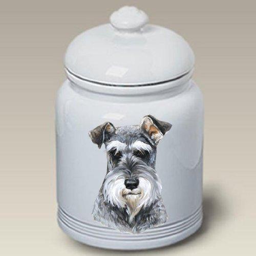 Schnauzer Uncropped Dog - Linda Picken Treat Jar