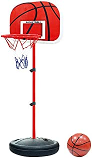 Tonyko Adjustable Kids Basketball Stand Basketball Hoop Basketball Portable Boards Toy Set 60-150CM with 1pcs
