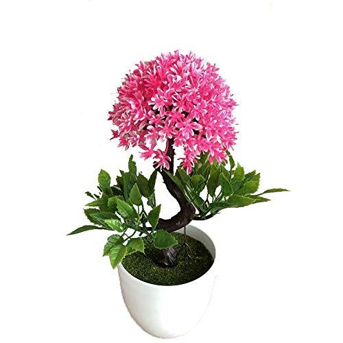 Lorchwise Simulate Onion Flower Ball Plant Rich Flower Bonsai - Indoor Desktop Decoration Simulation Bonsai -Pink