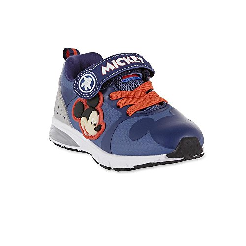 Disney Toddler Boys Mickey Mouse Light-Up Blue Athletic Shoe Size 12