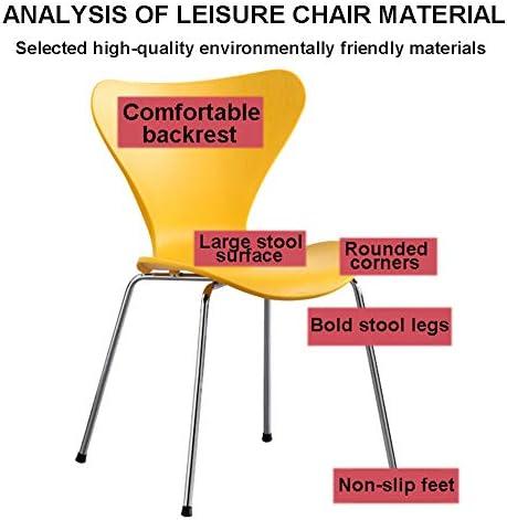 LXHkk Chaise Chaise De Salle À Manger Dossier Domestique Chaise De Bureau en Plastique Chaise avec Coussin De Pied Antidérapant pour Cuisine Salle À Manger
