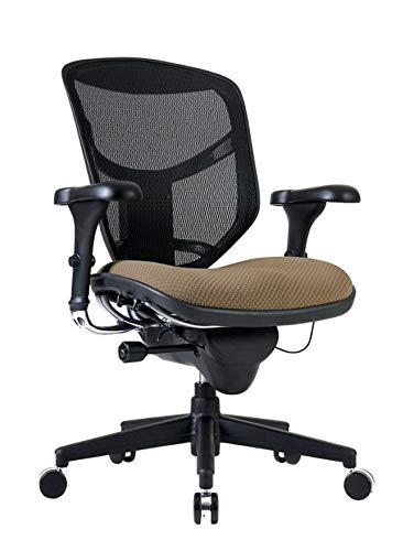 WorkPro Quantum 9000 Series Ergonomic Mid-Back Mesh/Fabric Chair, Black/Beige