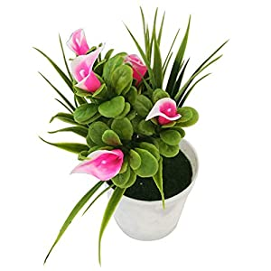 eroute66 Fake Potted Plants Artificial Greenery Shrubs Eucalyptus Branches Bonsai Plastic Baby's Breath Flower House Plants 1Pc 7