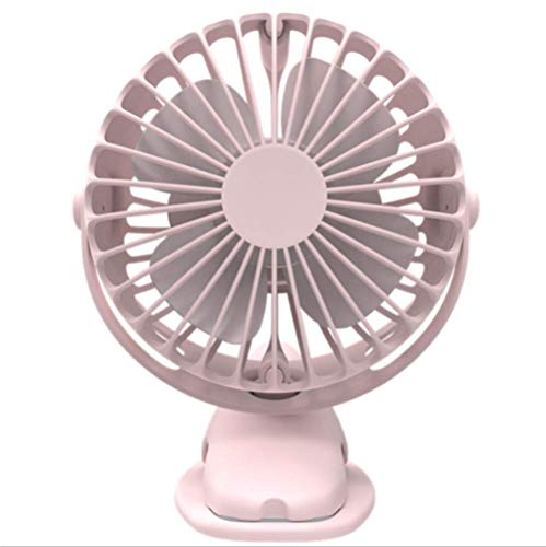 TG Battery Operated Clip on Fan, Stroller Fan, 4 Speed, Rechargeable Battery/USB Powered Small Personal Fan for Baby…