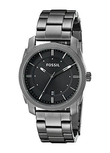 Fossil Men's FS4774 Machine Smoke Stainless Steel Bracelet W